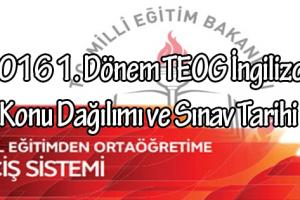 2016-teog-1-donem-ingilizce-konu-dagilimi-sinav-tarihi-mebingilizce